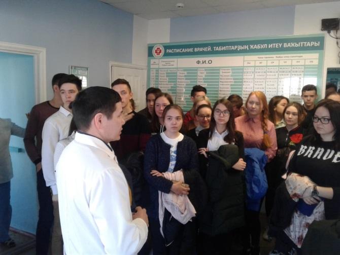«День открытых дверей» для учеников выпускных классов прошёл в Балтачевской ЦРБ 17 апреля 2019 года
